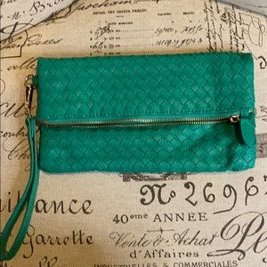 Urban Expressions Teal Green Clutch